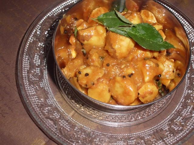 Chakkarkuru Mulakittathu  – Jackfruit Seeds in Spicy Sauce
