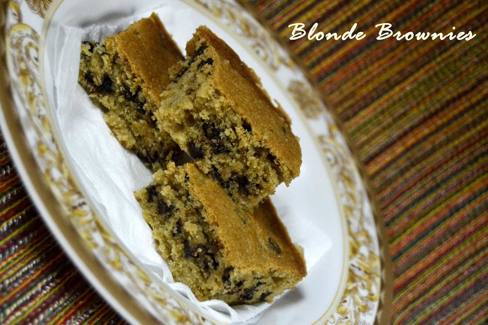 Blonde Brownies Blondies The Big Sweet Tooth