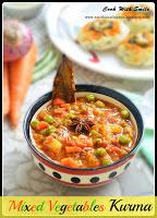 vegetable kurma recipe,mixed veg korma,korma,kurma