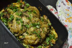3- Pepper Roast Chicken with Spicy Potatoes