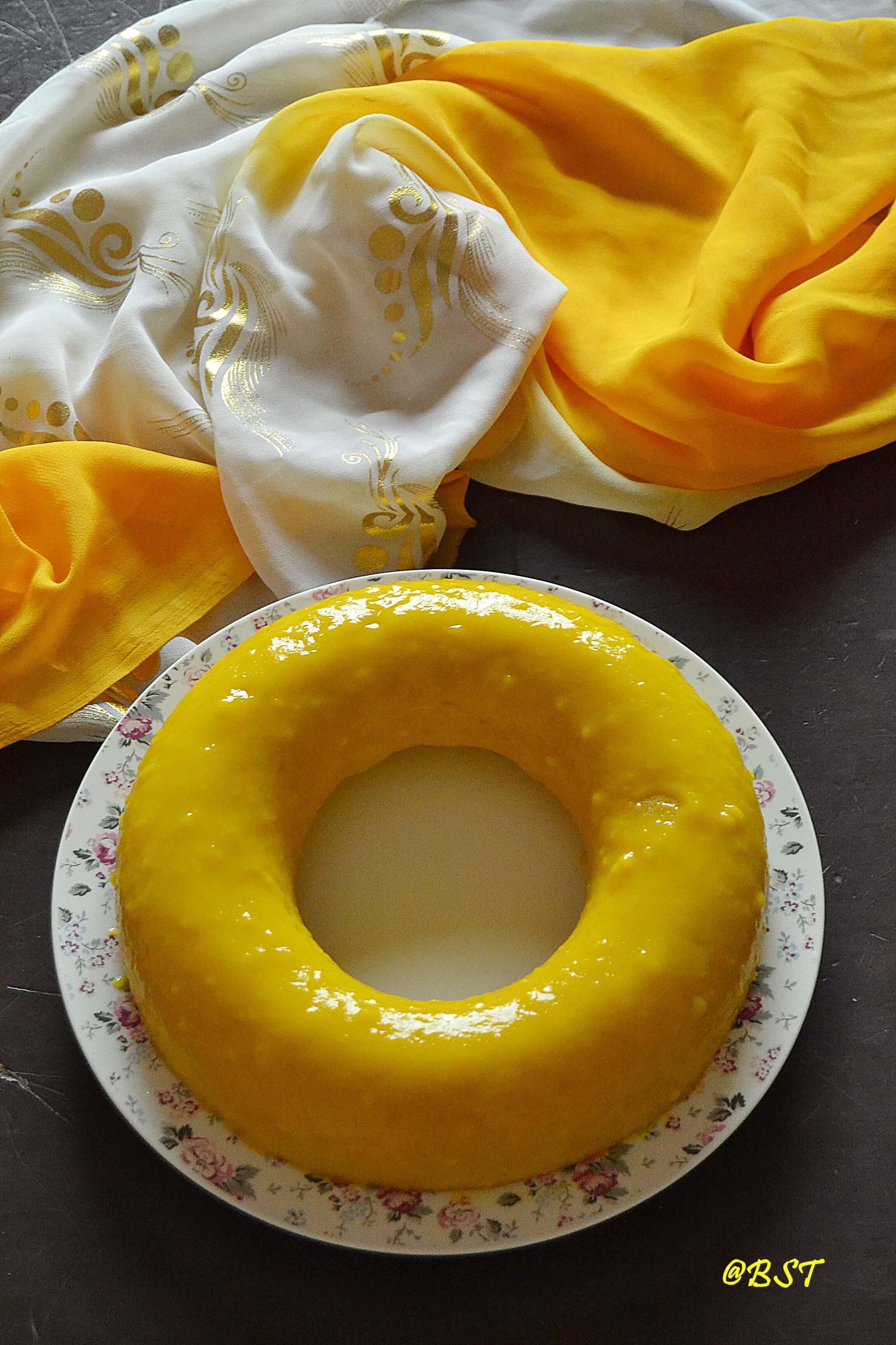 15- Classic Yellow Cake with Mango Glaze