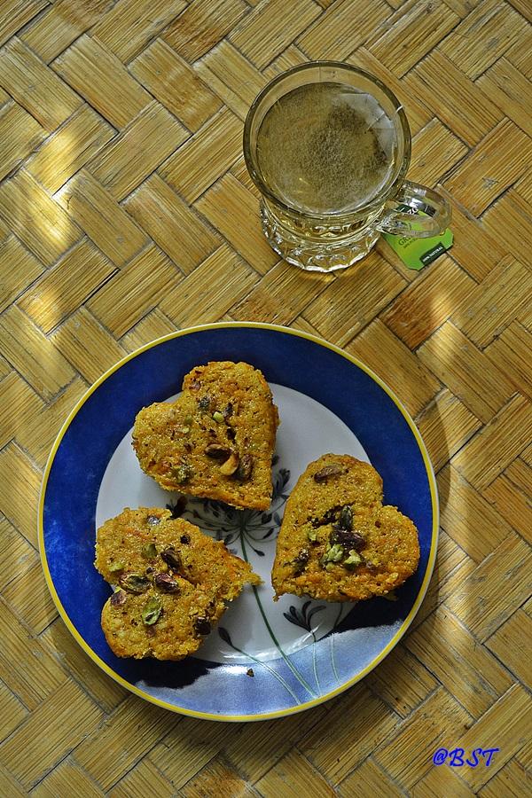 6. Carrot Pistachio Mini Cakes