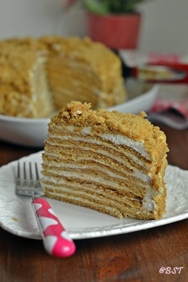 Medovic Medovik Russian Honey Cake The Big Sweet Tooth